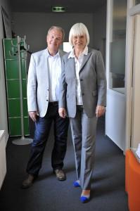 Peter Weber (IMPULS Deutschland gGmbH Geschäftsführer ) und Silke Janssen (Firma DEICHMANN).