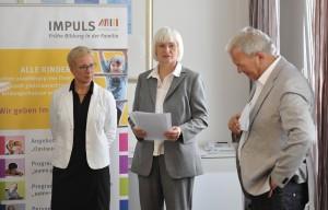 Prof. Dr. Eva Quante-Brandt, Peter Weber (IMPULS Deutschland gGmbH Geschäftsführer ) und Silke Janssen (Firma DEICHMANN).